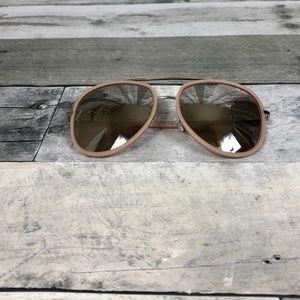 Quay Needing Fame Sunglasses Pink Aviators